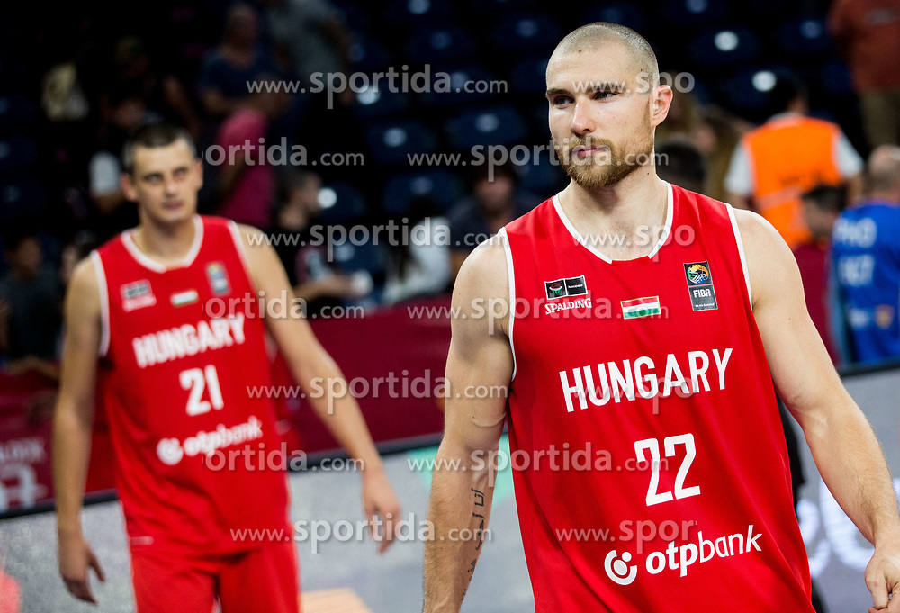 Janos Eilingsfeld of Hungary after the basketball match between National Teams of Serbia and Hungary at Day 11 in Round of 16 of the FIBA EuroBasket 2017 at Sinan Erdem Dome in Istanbul, Turkey on September 10, 2017. Photo by Vid Ponikvar / Sportida