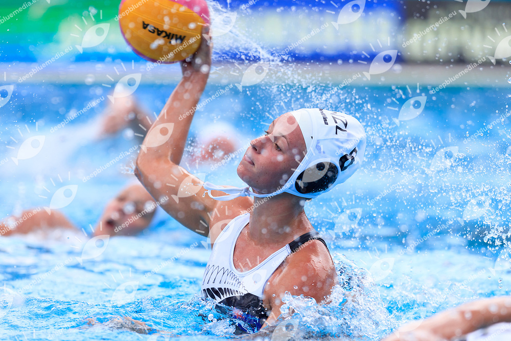 Bernadette Doyle of New Zealand<br /> New Zealand (White cap) vs Spain (Blue Cap) Water Polo - Preliminary round<br /> Day 03 16/07/2017 <br /> XVII FINA World Championships Aquatics<br /> Alfred Hajos Complex Margaret Island  <br /> Budapest Hungary July 15th - 30th 2017 <br /> Photo @Marcelterbals/Deepbluemedia/Insidefoto Photo @Marcelterbals/Deepbluemedia/Insidefoto
