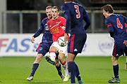 (L-R) Dani de Wit of Ajax U23, Mats Seuntjens of AZ Alkmaar U23
