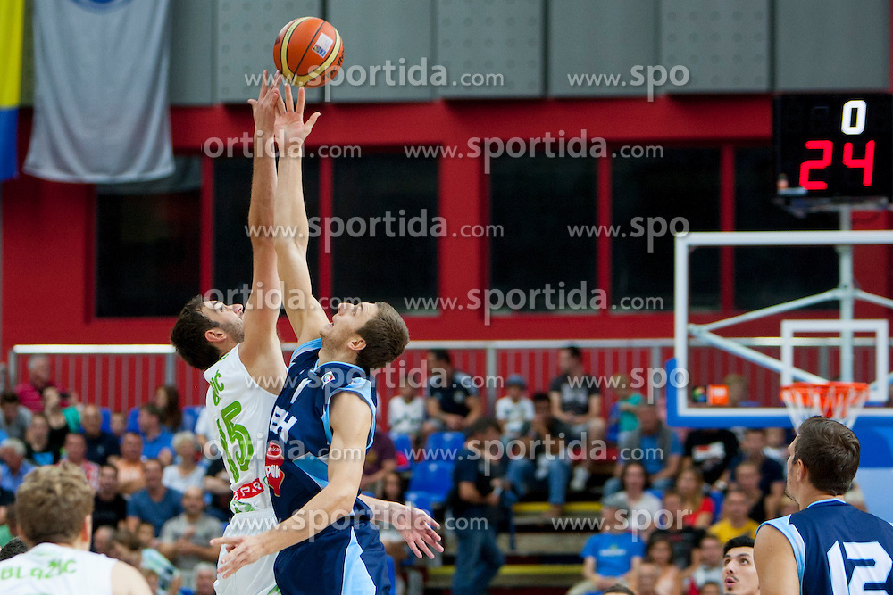Mirza Begic of Slovenia during friendly match between National teams of Slovenia and Bosnia and Herzegovina for Eurobasket 2013 on August 16, 2013 in Podmezakla, Jesenice, Slovenia. (Photo by Urban Urbanc / Sportida.com)