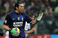 """Gianluigi Buffon Juventus.Parma 13/01/2013 Stadio """"Tardini"""".Football Calcio Serie A 2012/13.Parma v Juventus.Foto Insidefoto Paolo Nucci."""