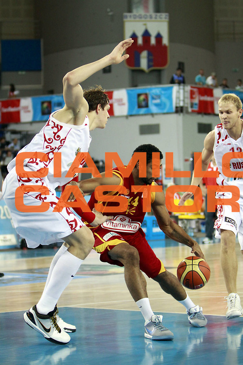 DESCRIZIONE : Bydgoszcz Poland Polonia Eurobasket Men 2009 Qualifying Round Russia Macedonia F.Y.R.of Macedonia<br /> GIOCATORE : Jeremiah Massey<br /> SQUADRA : Macedonia F.Y.R.of Macedonia<br /> EVENTO : Eurobasket Men 2009<br /> GARA : Russia Macedonia F.Y.R.of Macedonia<br /> DATA : 15/09/2009 <br /> CATEGORIA :<br /> SPORT : Pallacanestro <br /> AUTORE : Agenzia Ciamillo-Castoria/H.Bellenger<br /> Galleria : Eurobasket Men 2009 <br /> Fotonotizia : Bydgoszcz Poland Polonia Eurobasket Men 2009 Qualifying Round Russia Macedonia F.Y.R.of Macedonia<br /> Predefinita :