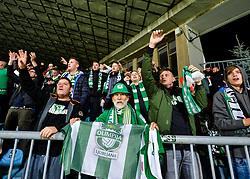 Fans of NK Olimpija Ljubljana celebrates after football match between NK Maribor and NK Olimpija Ljubljana in 14th Round of Prva liga Telekom Slovenije 2018/19, on October 27, 2018 in Ljudski vrt , Maribor, Slovenia. Photo by Mario Horvat / Sportida