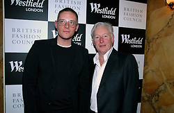 Left to right, Fashion designer GILES DEACON and KEITH MABBETT of Westfield at a party hosted by Westfield and the British Fashion Council to celebrate Fashion Forward held at Home House, 20 Portman Square, London W1 on 30th January 2007.<br />