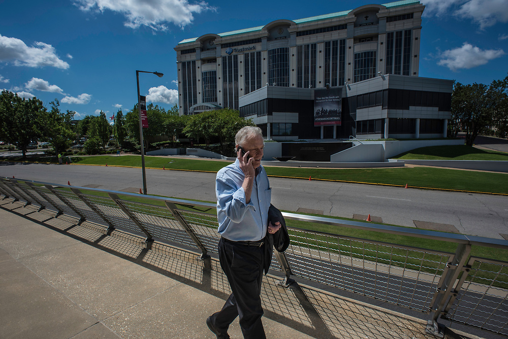 MONTGOMERY, AL -- 5/25/17 -- Even at age 80, Morris Dees still comes into the office daily. The attorney has made a career taking down racist organizations and hate groups over the years, and has created an infrastructure to continue that work well into the future. Dees enters SPLC headquarters, which is across the street from the Civil Rights Memorial Center.<br /> Civil Rights attorney Morris Dees co-founded the Southern Poverty Law Center in 1971. The group has taken on the Ku Klux Klan and fought for against hate for decades, but is now facing criticism that it has labeled some groups without just cause..&hellip;by Andr&eacute; Chung #_AC17500