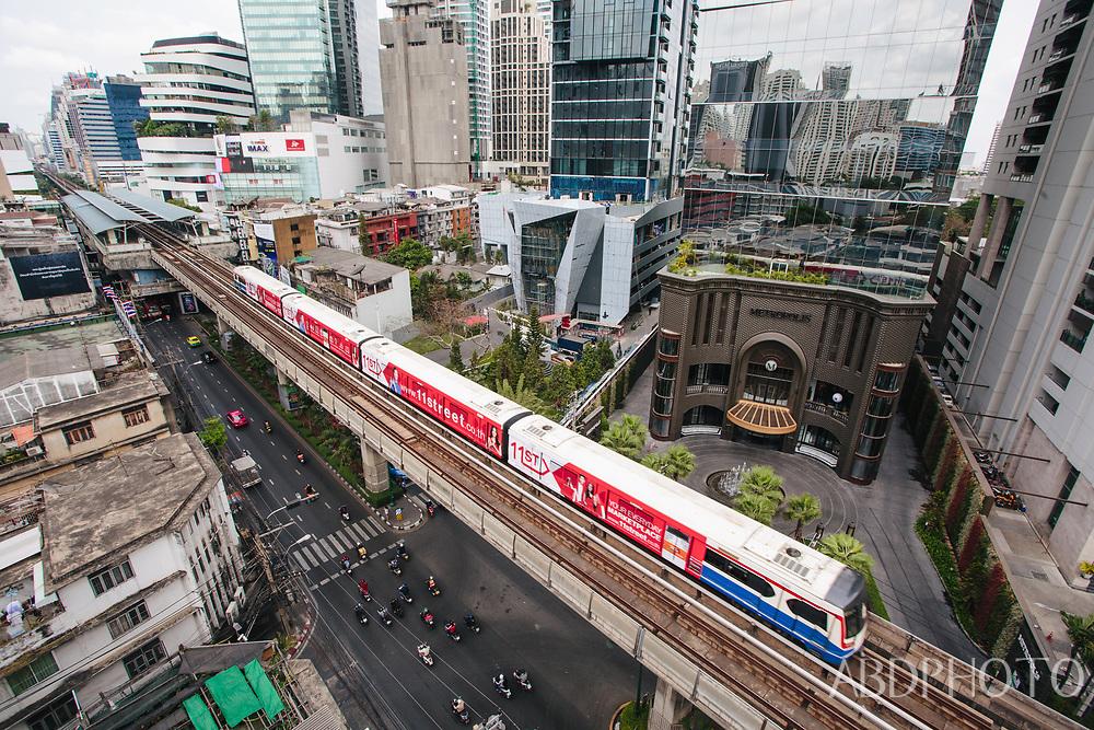 Sky train BTS Asoke Bangkok Thailand