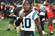 Carolina Panthers Wide Receiver Curtis Samuel (10) during the International Series match between Tampa Bay Buccaneers and Carolina Panthers at Tottenham Hotspur Stadium, London, United Kingdom on 13 October 2019.