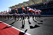 Nov 15-18, 2012: UT marching band leaves the grid prior to the race. ..© Jamey Price/XPB.cc