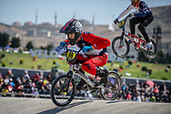 14 Boys #96 (PETEZKI Tom) FRA at the 2018 UCI BMX World Championships in Baku, Azerbaijan.