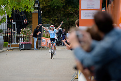 Kasia Niewiadoma (Rabo Liv) celebrates her second stage win of this year's tour at the 119 km Stage 6 of the Boels Ladies Tour 2016 on 4th September 2016 from Bunde to Valkenburg, Netherlands. (Photo by Sean Robinson/Velofocus).
