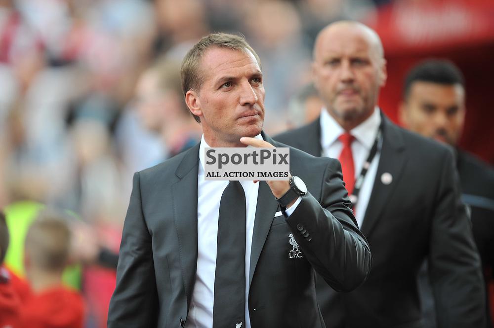 iverpool Manager Brendan Rogers Stoke City v Liverpool Premiership Brittania Stadium, Sunday 9th August 2015Stoke City v Liverpool Premiership Brittania Stadium, Sunday 9th August 2015