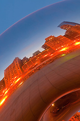 Chicago's Skyline reflected on Cloud Gate