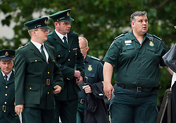 © Licensed to London News Pictures. 07/07/2015. London, UK. Ambulance workers arriving. . A church service held at St Paul's Cathedral In London on the 10th anniversary of the 7/7 bombings in London which killed 52 civilians and injured over 700 more.  Photo credit: Ben Cawthra/LNP