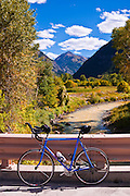 Bicycle and the Uncompahgre River, Uncompahgre National Forest, Colorado