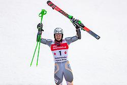 02.03.2020, Hannes Trinkl Weltcupstrecke, Hinterstoder, AUT, FIS Weltcup Ski Alpin, Riesenslalom, Herren, 2. Lauf, im Bild Henrik Kristoffersen (NOR, 3. Platz) // third placed Henrik Kristoffersen of Norway reacts after his 2nd run of men's Giant Slalom of FIS ski alpine world cup at the Hannes Trinkl Weltcupstrecke in Hinterstoder, Austria on 2020/03/02. EXPA Pictures © 2020, PhotoCredit: EXPA/ Johann Groder
