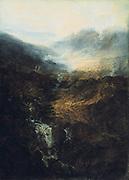 Morning Amongst the Coniston Fells, Cumberland'  1798.  Joseph Mallord Willliam Turner (1775-1851) English artist. Oil on canvas.