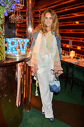 ALEXIA NIEDZIELSKI at a dinner hosted by Roger Vivier to celebrate The Prismick Denim by Camillle Seydoux held at Casa Cruz, 123 Clarendon Road, London on 17th March 2016.