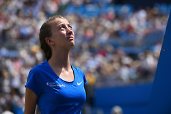 June 23, 2017 - London, United Kingdom - A ball girl is pictured n the Centre Court of the AEGON Championships 2017 at the Queen's Club, London on June 23, 2017. (Credit Image: © Alberto Pezzali/NurPhoto via ZUMA Press)