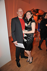 CAMILLA RUTHERFORD and DOMINIC BURNS at the TOD'S Art Plus Drama Party at the Whitechapel Gallery, London on 24th March 2011.