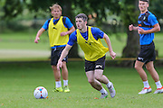 Forest Green Rovers Louis McGrory during the Forest Green Rovers Training at the Cirencester Agricultural College, Cirencester, United Kingdom on 12 July 2016. Photo by Shane Healey.