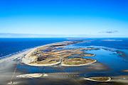 Nederland, Friesland, Vlieland, 28-02-2016; overzicht West-Vlieland met de Vliehors in de voorgrond (militair oefenterrein van de Koninklijke Luchtmacht, voormalige Cavalerie Schietkamp).  Terschelling aan de horizon.<br /> Wadden island Vlieland. Vliehors, military training grounds, North sea, Wadden sea. <br /> luchtfoto (toeslag op standard tarieven);<br /> aerial photo (additional fee required);<br /> copyright foto/photo Siebe Swart