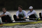 London. GREAT BRITAIN, 2007 Cambridge  University BC trial Eights,  6. Don WYPER, 7. Sebastian SCHULTE  and Kieran WEST, [left], during  the Trial Eights, between Putney and Chiswick  08.12.2006. [Photo, Peter Spurrier/Intersport-images]. Varsity:Boat Race, Rowing Course: River Thames, Championship course, Putney to Mortlake 4.25 Miles