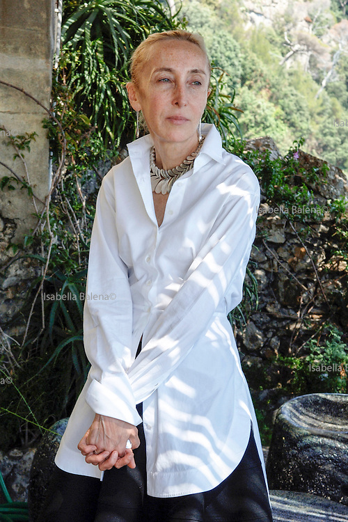 Carla Sozzani in her home in Portofino.  Carla Sozzani is the visionary proprietor of 10 Corso Como, the fashion boutique/art gallery/ music store/ restaurant and B&B she opened in Milan in 1991. Portofino, Italy, on friday june 22, 2007