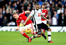 Bradley Johnson of Derby County and Ben Osborn of Nottingham Forest battle for the ball - Mandatory by-line: Robbie Stephenson/JMP - 11/12/2016 - FOOTBALL - iPro Stadium - Derby, England - Derby County v Nottingham Forest - Sky Bet Championship