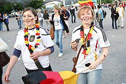 23.06.2010, Olympiapark, Muenchen, GER, FIFA Worldcup, Puplic Viewing Ghana vs Deutschland  im Bild Weibliche Fans vor dem Spiel, EXPA Pictures © 2010, PhotoCredit: EXPA/ nph/  Straubmeier / SPORTIDA PHOTO AGENCY