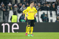 24.02.2015, Veltins Arena, Turin, ITA, UEFA CL, Juventus Turin vs Borussia Dortmund, Achtelfinale, Hinspiel, im Bild enttaeuschung bei Nuri Sahin #18 (Borussia Dortmund) // during the UEFA Champions League Round of 16, 1st Leg match between between Juventus Turin and Borussia Dortmund at the Veltins Arena in Turin, Italy on 2015/02/24. EXPA Pictures © 2015, PhotoCredit: EXPA/ Eibner-Pressefoto/ Kolbert<br /> <br /> *****ATTENTION - OUT of GER*****