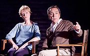 Prism <br /> by Terry Johnson <br /> at Hampstead Theatre, London, Great Britain <br /> press photocall <br /> 11th September 2017 <br /> <br /> <br /> Robert Lindsay as Jack Cardiff <br /> Claire Skinner as Nicola <br /> <br /> Designed by Tim Shortall<br /> Lighting by Ben Ormerod<br /> Sound by John Leonard <br /> Casting by Suzanne Crowley and Gilly Poole <br /> <br /> <br /> Photograph by Elliott Franks <br /> Image licensed to Elliott Franks Photography Services