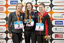 HOWARTH Nikita, JORDAN Cortney, MEHAIN Sarah NZL, USA, CAN at 2015 IPC Swimming World Championships -  Women's 50m Butterfly S7
