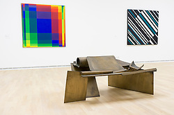 Sculpture Sun Crunch by Anthony Caro at the Museum Kunst Palast or Art Palace Museum in Dusseldorf in Germany
