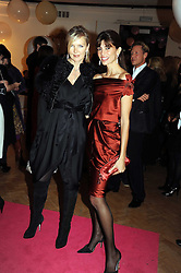 Left to right, AMANDA WAKELEY and LISA BILTON at Vogue's Fantastic Fashion Fantasy Party in association with Van Cleef & Arpels to celebrate Vogue's Secret Address Book held at One Marylebone Road, London NW1 on 3rd November 2008.
