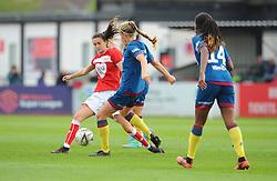 Rosella Ayane of Bristol City competes with Brooke Hendrix - Mandatory by-line: Nizaam Jones/JMP - 28/04/2019 - FOOTBALL - Stoke Gifford Stadium - Bristol, England - Bristol City Women v West Ham United Women - FA Women's Super League 1