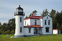 Admiralty Head Lighthouse, Fort Casey State Park on Whidbey Island, Washington.