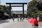 Tokyo, April 10 2014 - At the controversial Yasukuni shrine.
