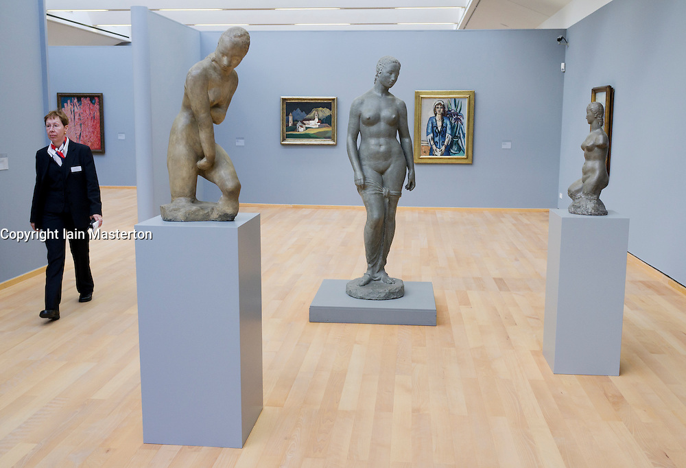 Sculptures by Wilhelm Lehmbruck at the Museum Kunst Palast or Art Palace Museum in Dusseldorf in Germany