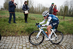Tayler Wiles (USA) at Omloop Het Nieuwsblad - Elite Women 2019, a 122.9 km road race from Gent to Ninove, Belgium on March 2, 2019. Photo by Sean Robinson/velofocus.com