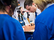 25 NOVEMBER 2019 - CRESTON, IOWA: Mayor PETE BUTTIGIEG signs a book for people on the rope line during a campaign event in Creston, IA. Buttigieg, the mayor of South Bend, Indiana, is campaigning to the Democratic nominee for the US presidency. Iowa traditionally hosts the the first selection event of the presidential election cycle. The Iowa Caucuses will be on Feb. 3, 2020.             PHOTO BY JACK KURTZ