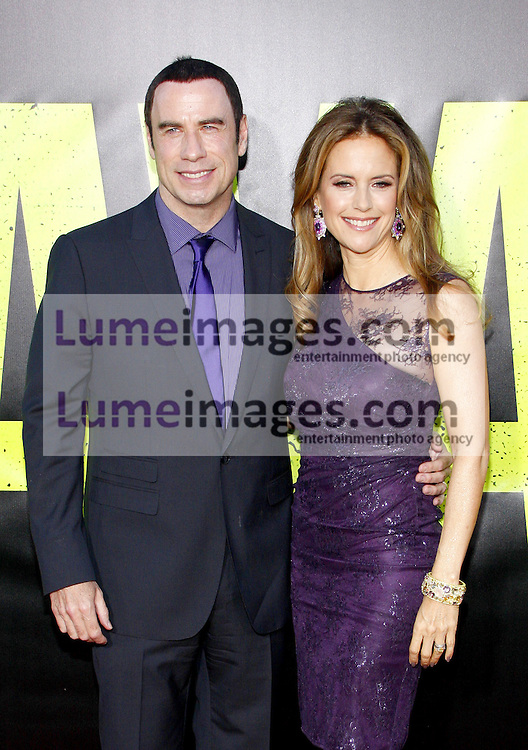 "John Travolta and Kelly Preston at the Los Angeles premiere of 'Savages"" held at the Mann Village Theatre in Westwood on June 25, 2012. Credit: Lumeimages.com"