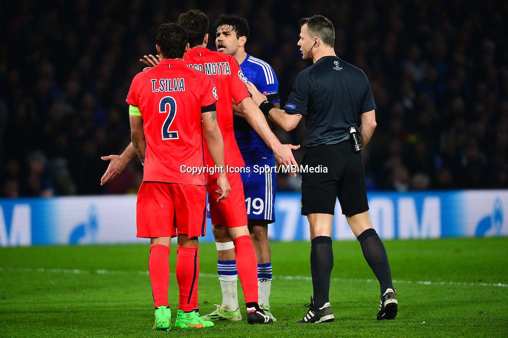 Diego COSTA / Thiago SILVA / Thiago MOTTA - 11.03.2015 - Chelsea / Paris Saint Germain - 1/8Finale retour Champions League<br /> Photo : Dave Winter / Icon Sport