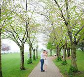 Allison & Abdullah's Spencer Smith Park Engagement Session