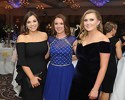Aoibheann Dever, Marie Halpin and Clare O&rsquo;Malley pictured at the Westport GAA All Ireland celebration banquet at the Castlecourt Hotel last.<br /> Pic Conor McKeown