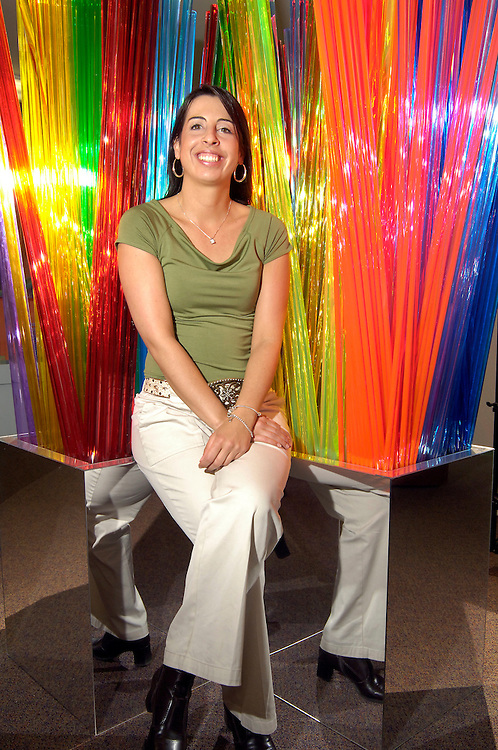 Wendy Poltorek owner of HP Manufacturing poses for a portrait in the companies new store front The House of Plastic on Prospect Ave. in Cleveland on Thursday, April 20, 2006.