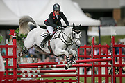 Second-placed Equitrek CCI*** QUICKLOOK V ridden by Gemma Tattersall (GBR) during the final show jumping round on day four of during the Bramham International Horse Trials 2017 at  at Bramham Park, Bramham, United Kingdom on 11 June 2017. Photo by Mark P Doherty.