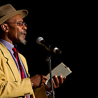 Linton Kwesi Johnson performing at the Mela Festival in Oslo, 2011