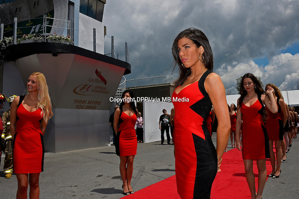 MOTORSPORT - F1 2013 - GRAND PRIX OF CANADA - MONTREAL (CAN) - 07 TO 09/06/2013 - PHOTO ERIC VARGIOLU / DPPI GIRL - GIRLS - AMBIANCE