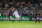 Theo Belan and Jone Tuva to LOU during the European Rugby Challenge Cup, Pool 2, between Lyon OU and Sale Sharks on October 20, 2017 at Matmut stadium in Lyon, France - Photo Romain Biard / Isports / ProSportsImages / DPPI