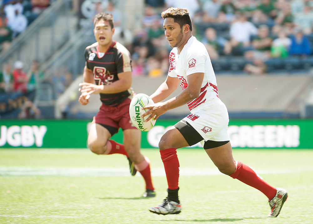 Boston College and Temple University compete in pool play of the 2017 Penn Mutual Collegiate Rugby Championship at Talen Energy Stadium in Philadelphia. June 3, 2017. <br /> <br /> By Jack Megaw.<br /> <br /> www.jackmegaw.com<br /> <br /> jack@jackmegaw.com<br /> @jackmegawphoto<br /> [US] +1 610.764.3094<br /> [UK] +44 07481 764811
